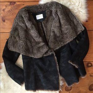 Anthropologie Faux Fur Jacket